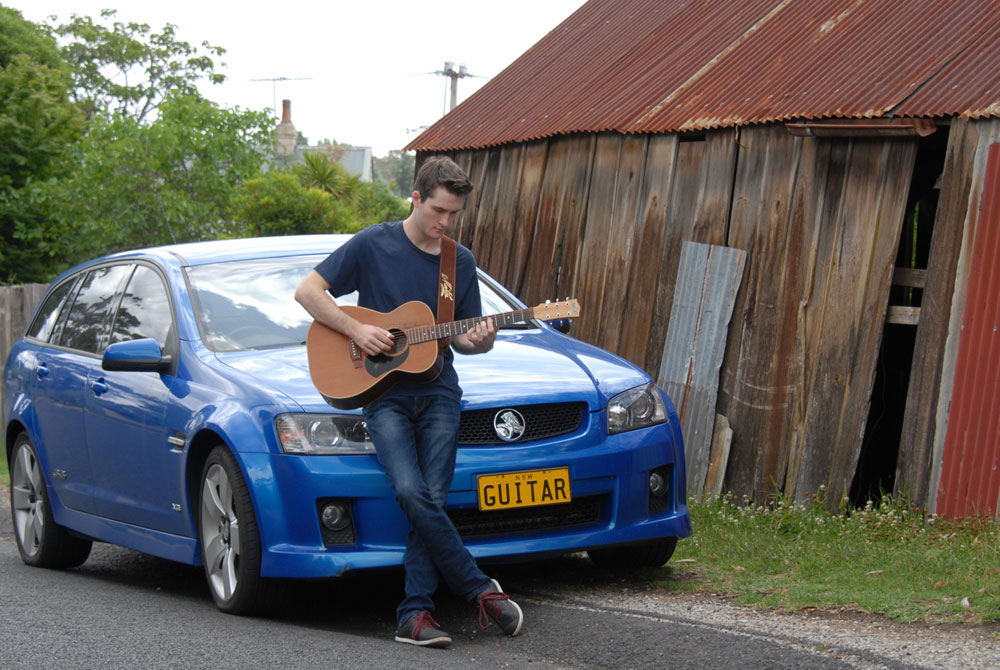 artin Foote and Guitar Car